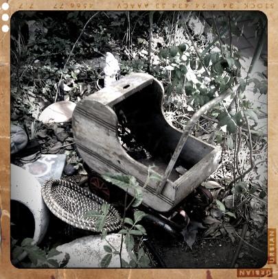 עגלה נטושה, צילום: עמיר